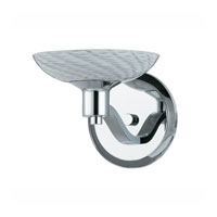 Triarch Industries Halogen VII 1 Light Wall Sconce in Polished Chrome with Hand Blown White Art Glass 39471