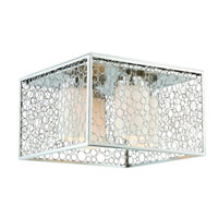 Triarch Industries Contempo 4 Light Flush Mount in Chrome with Frosted White Glass 39506