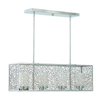 Triarch Industries Contempo 4 Light Island Light in Chrome with Frosted White Glass 39507