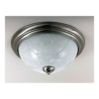 Triarch Industries Jaclyn 3 Light Flush Mount in Brushed Steel with White Art Glass 39676-16