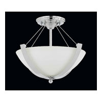 Triarch Industries Neptune 2 Light Semi-Flush Mount in Chrome with White Opal Glass 40101-15
