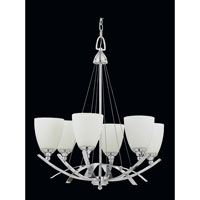 Triarch Industries Neptune 6 Light Chandelier in Chrome with White Opal Glass 40103