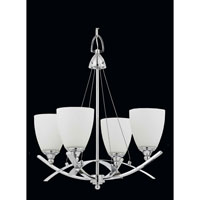 Triarch Industries Neptune 4 Light Chandelier in Chrome with White Opal Glass 40108