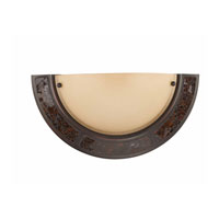 Triarch Kaleidoscope Mosaic 1 Light Sconce in Hand Painted Bronze 60102