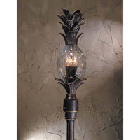 Triarch Industries Maui 3 Light Outdoor Post Mount in English Bronze with Clear Pineapple Glass 75105-11