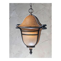 Triarch Industries Bombay 3 Light Outdoor Pendant in Aged Wicker With An English Bronze with Hand Blown Cognac Antiqued Glass 75127-11