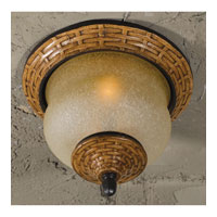 Triarch Industries Bombay 2 Light Outdoor Ceiling in Aged Wicker With An English Bronze with Hand Blown Cognac Antiqued Glass 75128-11
