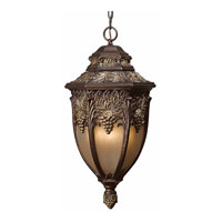 Triarch Industries Bordeaux 4 Light Outdoor Pendant in Oil Rubbed Bronze with Smoke Tinted Hammered Glass 75167-14
