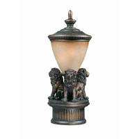 Triarch Industries Lion 1 Light Pier Mount in Oil Rubbed Bronze with Cognac Antiqued Glass 75238-14