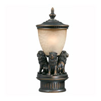 Triarch Industries Lion 1 Light Pier Mount in Oil Rubbed Bronze with Cognac Antiqued Glass 75239-14