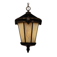 Triarch Industries Ram 1 Light Outdoor Pendant in Oil Rubbed Bronze with Honey Tiffany Energy Saving Glass 75247-14