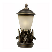 Triarch Industries Gargoyle 1 Light Pier Mount in Oil Rubbed Bronze with Hand Blown Cognac Antiqued Glass 75258-14