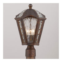 Triarch Industries Mosaic 3 Light Outdoor Post Head in Bronze Tortoise Shell with Mosaic Glass 75265-15
