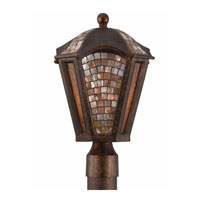 Triarch Industries Seashell 3 Light Outdoor Post Head in Bronze Tortoise Shell 75275-15