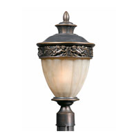 Triarch Industries Cherub 2 Light Outdoor Post Head in Oil Rubbed Bronze with Hand Blown Antiqued Glass 75355-14