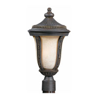 Triarch Industries Ambassador 3 Light Outdoor Post Head in Weathered Bronze with Antiqued Scavo Glass 75375-11