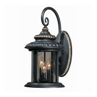 Triarch Industries Pub 3 Light Outdoor Wall in Lava Stone 75392-16