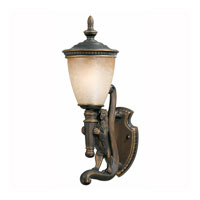 Triarch Industries Lion 1 Light Outdoor Wall Left in Oil Rubbed Bronze with Hand Blown Cognac Antiqued Glass 75530-14-L