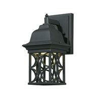 Triarch Industries Signature 1 Light Outdoor Wall in Hand Painted Blacksmith Bronze with Open Scroll Work Lantern Glass 78140-10