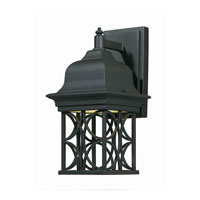 Triarch Industries Signature 1 Light Outdoor Wall in Hand Painted Blacksmith Bronze with Open Scroll Work Lantern Glass 78141-10