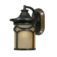 Triarch Industries Signature 1 Light Outdoor Wall in Hand Painted Oil Rubbed Bronze with Frosted Amber Glass 78171-14