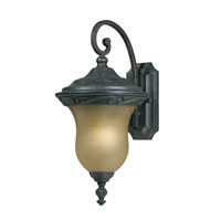 Triarch Industries Signature 1 Light Outdoor Wall in Hand Painted English Bronze with Frosted Glass 78221-12
