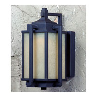 Triarch Industries LED Exterior 1 Light Outdoor Pendant in Oil Rubbed Bronze With Gold Highlights with Amber Tinted Scavo Glass 79120-10