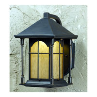 Triarch Industries LED Exterior 1 Light Outdoor Pendant in Oil Rubbed Bronze with Amber Tinted Water Glass 79131-14