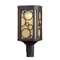 Triarch Industries LED Exterior 1 Light Outdoor Pendant in Oil Rubbed Bronze With Gold Highlights with Scavo Glass 79146-10