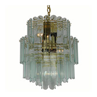 Triarch Industries Signature 6 Light Chandelier in Polished Brass 80002-CLR