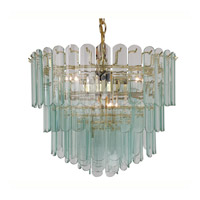 Triarch Industries Signature 9 Light Chandelier in Polished Brass 80005-CLR