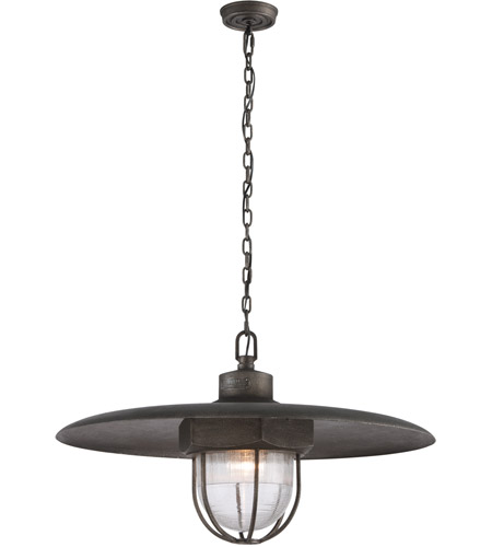 Troy Lighting F3898 Acme 1 Light 32 inch Aged Silver Pendant Ceiling Light in Incandescent photo