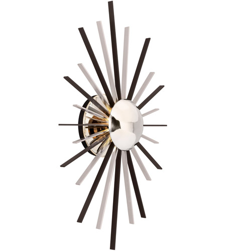 Troy Lighting B4801 Atomic LED 14 inch Polished Nickel Wall Sconce Wall Light photo