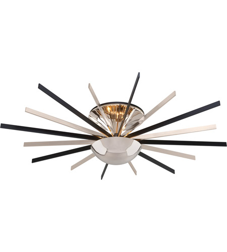Troy Lighting C4804 Atomic LED 48 inch Polished Nickel Semi-Flush Ceiling Light photo