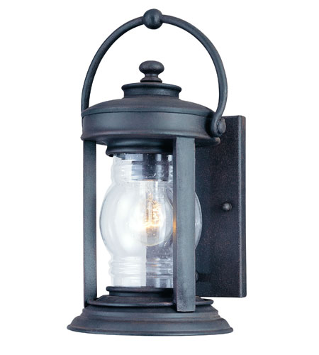 Troy Lighting Station Square 1 Light Outdoor Wall Lantern in Natural Rust B1411NR photo