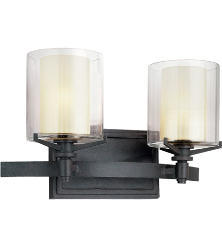 Troy Lighting Arcadia 2 Light Bath Vanity in French Iron B1712FR photo