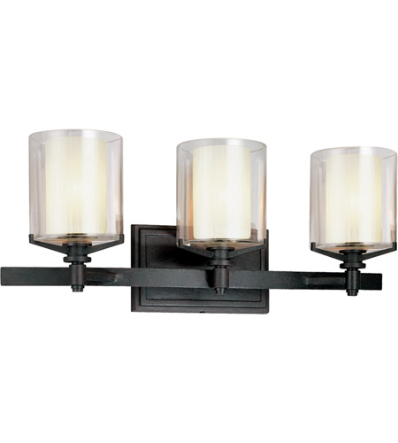 Troy Lighting Arcadia 3 Light Bath Vanity in French Iron B1713FR photo