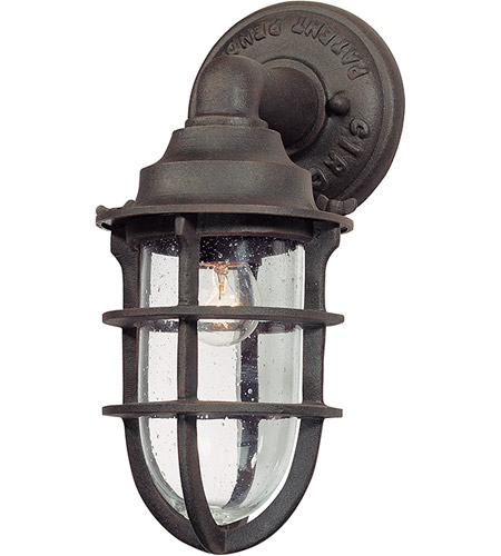 Troy Lighting B1865NR Wilimington 1 Light 12 inch Nautical Rust Outdoor Wall Lantern photo