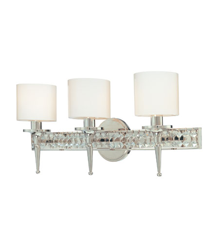 Troy Lighting Collins 3 Light Bath Vanity in Polished Nickel B1923PN photo