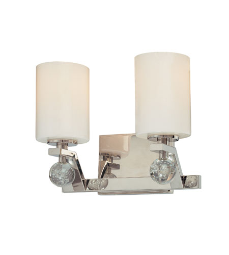 Vanity Lights Polished Nickel : Troy Lighting Tate 2 Light Bath Vanity in Polished Nickel B1932PN