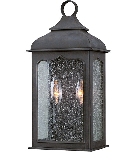 Troy Lighting B2010CI Henry Street 2 Light 15 inch Colonial Iron Outdoor Pocket Lantern in Incandescent photo