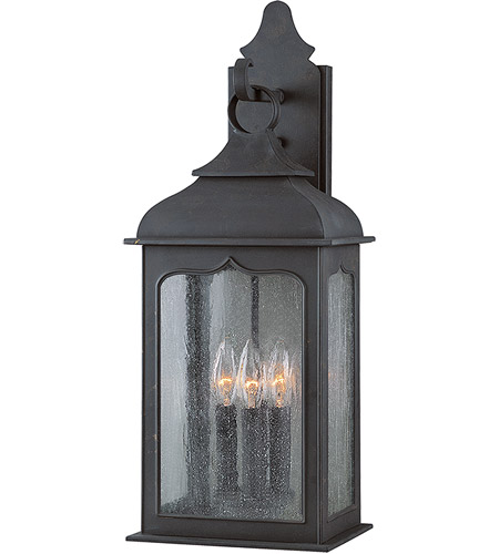 Troy Lighting B2012CI Henry Street 3 Light 23 inch Colonial Iron Outdoor Wall Lantern in Incandescent photo