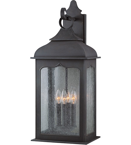 Troy Lighting B2013CI Henry Street 4 Light 27 inch Colonial Iron Outdoor Wall Lantern in Incandescent photo