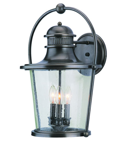 Troy Lighting Guild Hall 3 Light Outdoor Wall Lantern in English Bronze B2033EB photo