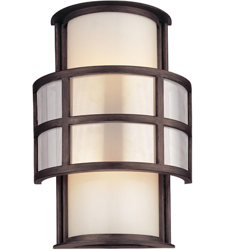 Troy Lighting B2732 Discus 2 Light 14 inch Graphite Outdoor Wall in Incandescent photo
