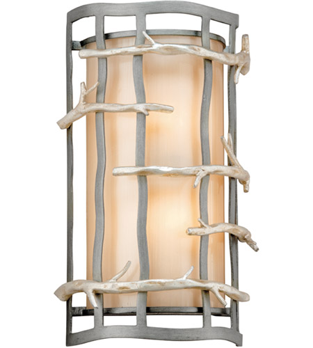 Troy Lighting B2882 Adirondack 2 Light 9 inch Graphite And Silver ADA Wall Sconce Wall Light in Incandescent photo