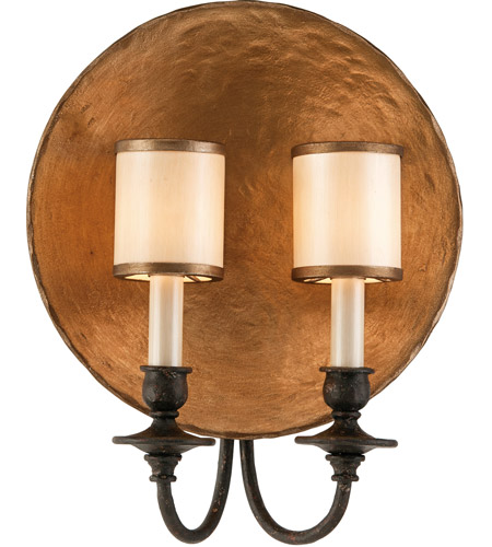 Troy Lighting B2922 Cymbals 2 Light 12 inch Bronze Leaf With Umb Wall Sconce Wall Light photo
