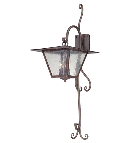Troy Lighting Potter 3 Light Outdoor Wall in Fired Iron B2952 photo