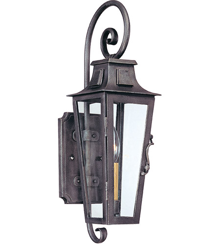 Troy Lighting B2961 Parisian Square 1 Light 19 inch Aged Pewter Outdoor Wall Lantern in Incandescent photo