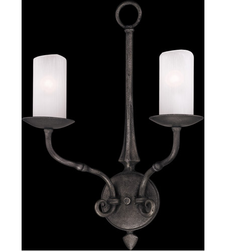 Troy Lighting Prescott 2 Light Wall Sconce in Aged Pewter B3112 photo
